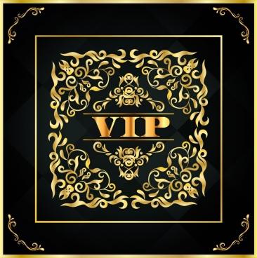 vip background elegant golden decor classical symmetric design
