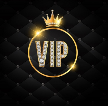 vip background shiny golden crown gemstone decoration