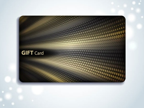 gift card template modern abstract dynamic dark decor