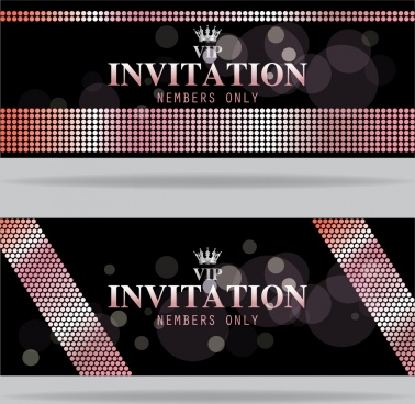 vip card template black bokeh design crown icon