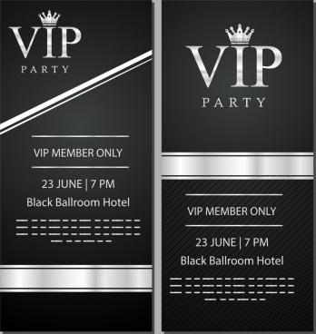 Vip card template free vector download 23276 free vector for vip card template elegant black white decor maxwellsz