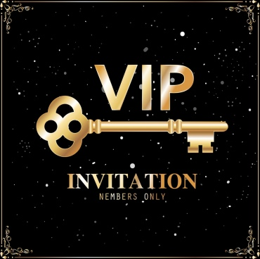 vip card template golden key elegant black decor