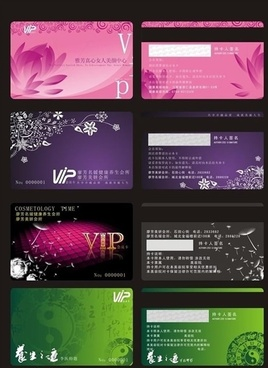 vip card templates flowers decoration dark modern design