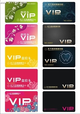 vip card templates elegant design flowers plane decor
