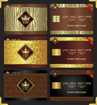 name card template luxury crown decor