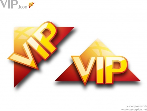 vip signs shiny colored modern text triangle design
