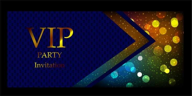 vip invitation card background blue sparkling shiny bokeh
