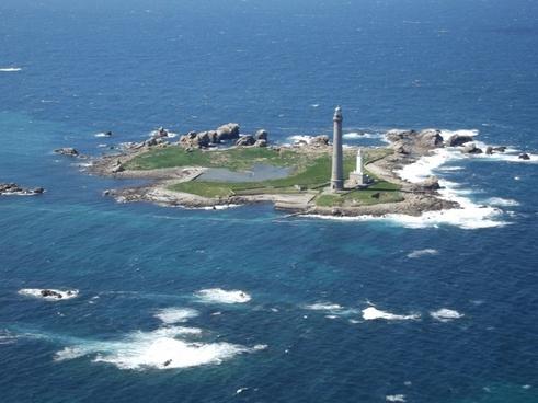 virgin island plouguerneau sea
