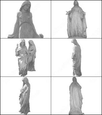 virgins statue brush