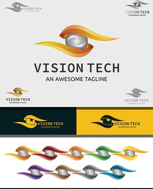 vision tech 3d logo design