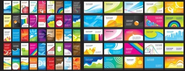 brochure background templates sets colorful modern design