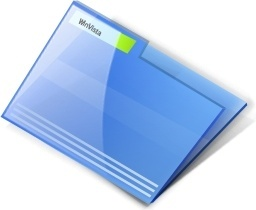 Vista blue Close folder