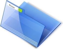 Vista blue open folder