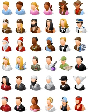 Vista Style People Icons Set icons pack