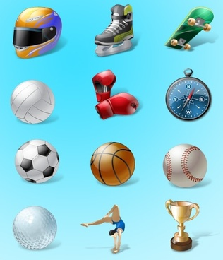 Vista Style Sport Icon Set icons pack