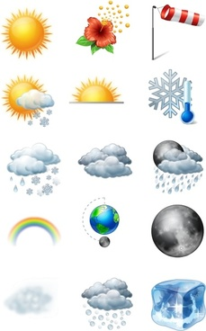 Vista Style Weather Icons Set icons pack