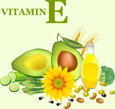 vitamin advertisement cucumber avocado sunflower beans icons