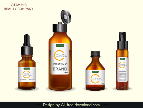 vitamin bottles templates shiny modern decor
