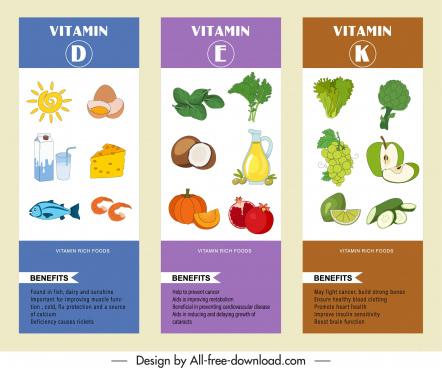 vitamin food infographic templates colorful decor handdrawn sketch