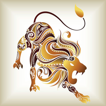 vivid abstract animals design elements vector
