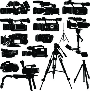 vivid camera and camcorder elements vector