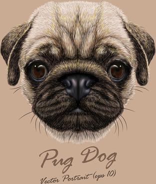 vivid dog face background vector