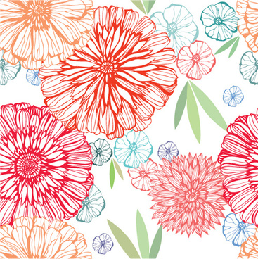 vivid flower pattern design vector graphic