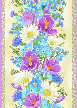 vivid flowers vector art