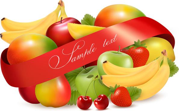 vivid fruits design vector