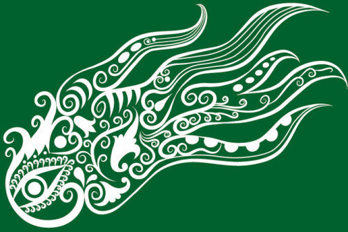 vivid hand drawn squid decoration pattern vector