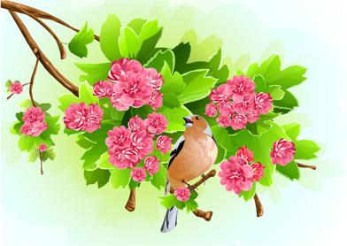 vivid open flowers vector