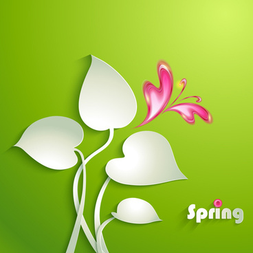 vivid paper flowers design vector