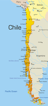 vivid south america map design vector