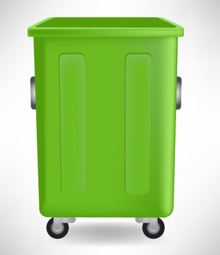 vivid trashcan design elements vector set