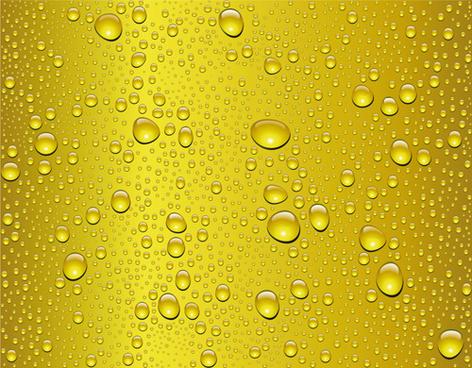 vivid water drops design vector