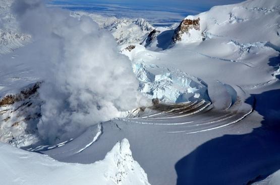 volcano glacier fumarole