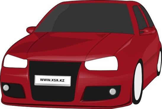 Volkswagen Golf Tuned Clip Art clip art