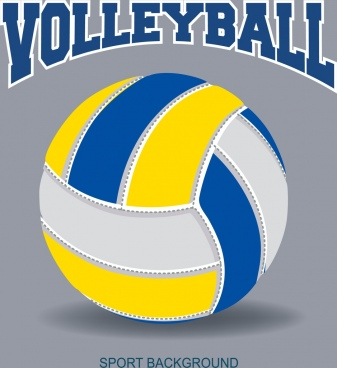 volleyball background ball icon closeup design text decor