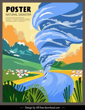 vortex disaster poster colorful motion design