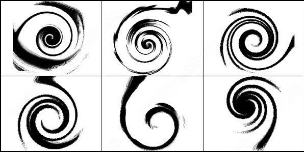 vortex, swirl brush