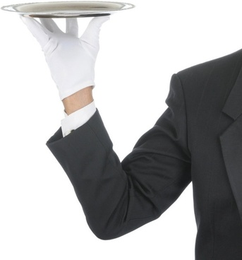 waiter tray posture 03 hd picture