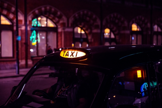 waiting london taxi