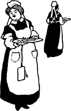 Waitresses clip art
