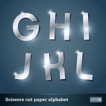 walk of papercut letters 01 vector