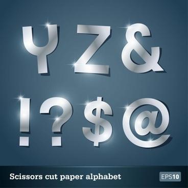walk of papercut letters 02 vector