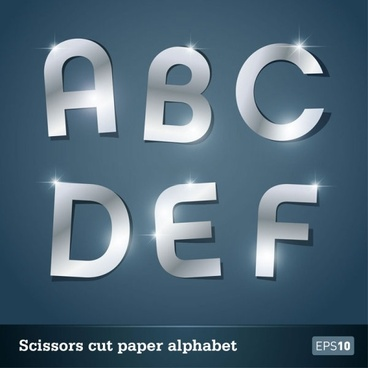 walk of papercut letters 03 vector