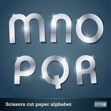 walk of papercut letters 04 vector