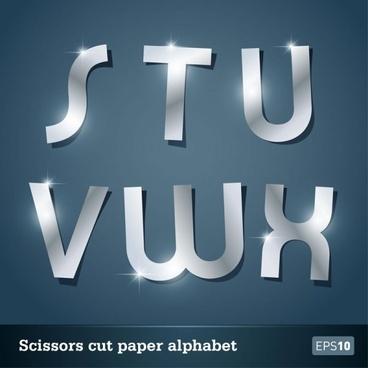 walk of papercut letters 05 vector