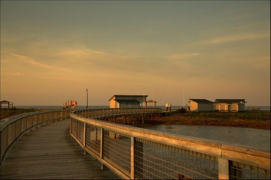 walk walkway ocean