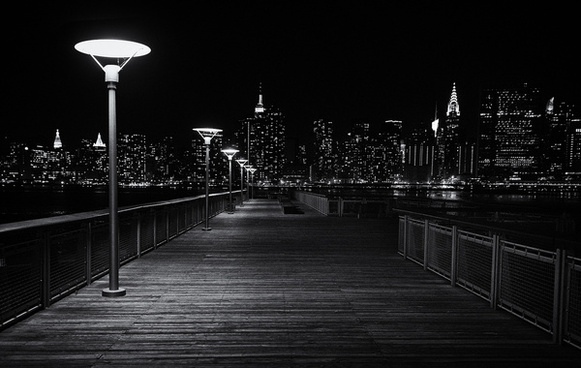 walkway to the city